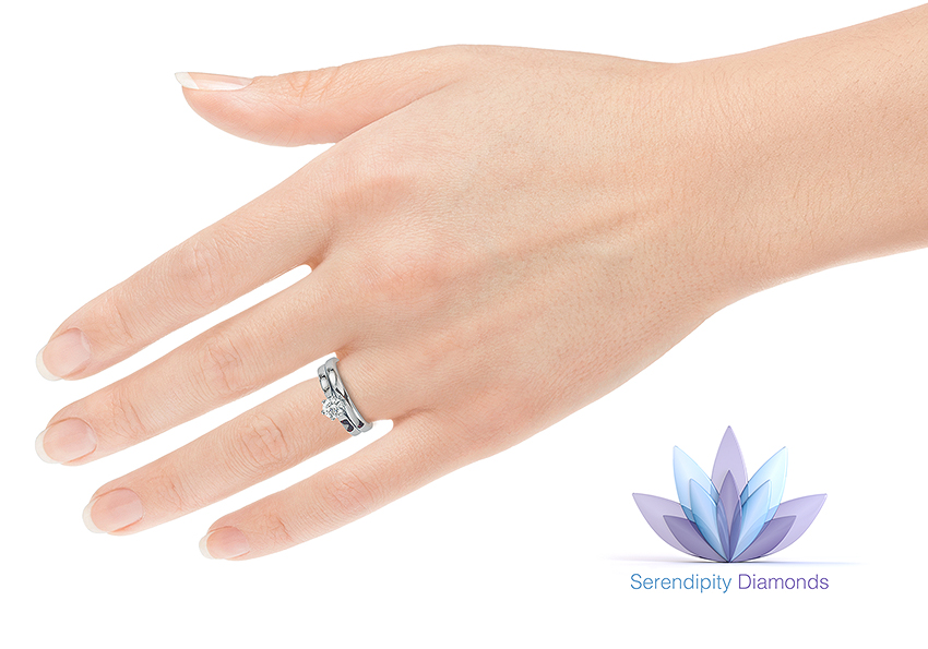 Which hand for engagement rings? Showing both the wedding ring and engagement ring on the hand