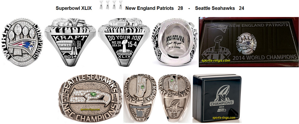 Every single superbowl super bowl ring picture