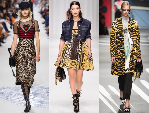 Leopard prints were spotted all over the Spring 2018 runways.