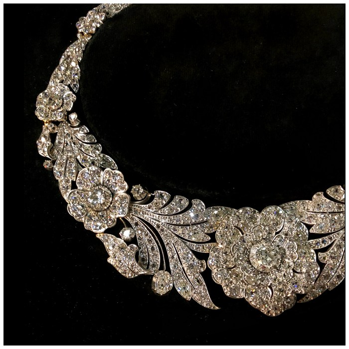An utterly incredible antique diamond flower necklace!! Spotted at Spicer Warin.