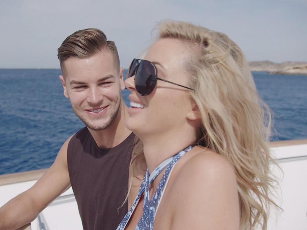 Olivia and Chris on Love Island
