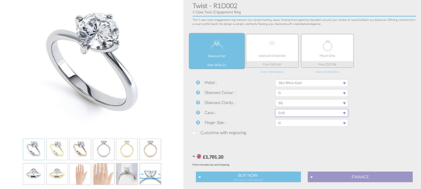 Example of average price engagement ring
