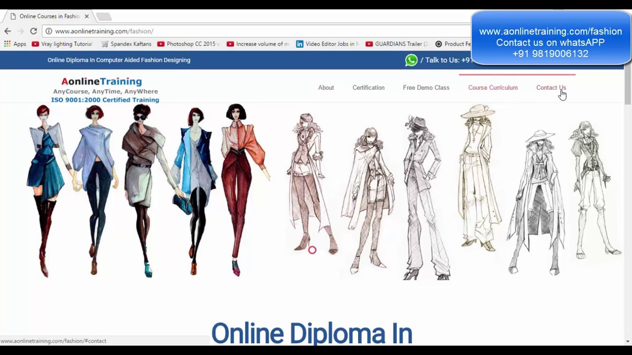 Online Fashion Designing Courses Cad Free Demo Class Hindi Like It Gold