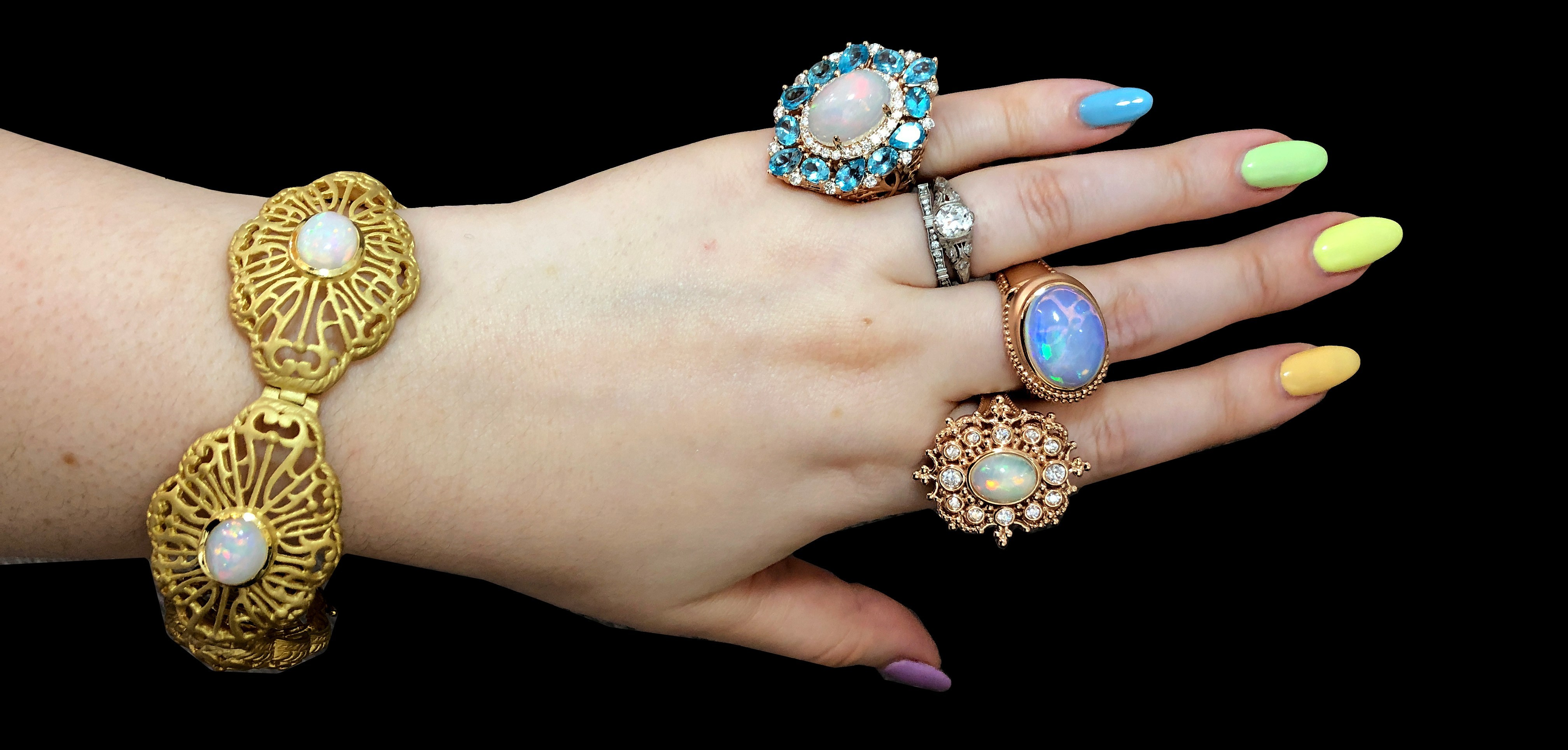 Beautiful colored gemstone jewels by Dallas Prince Designs!