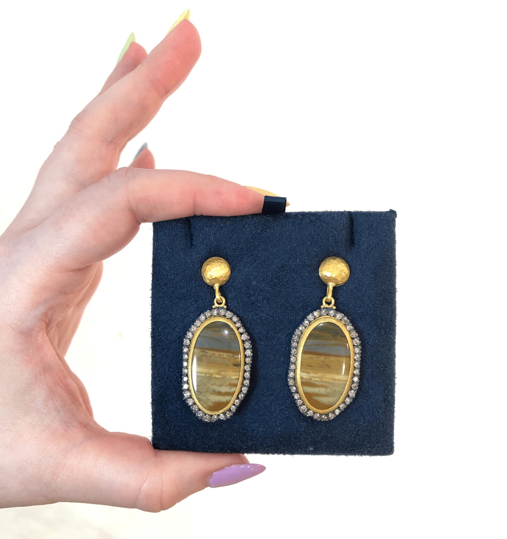 I love the jasper stones in these Lika Behar earrings.