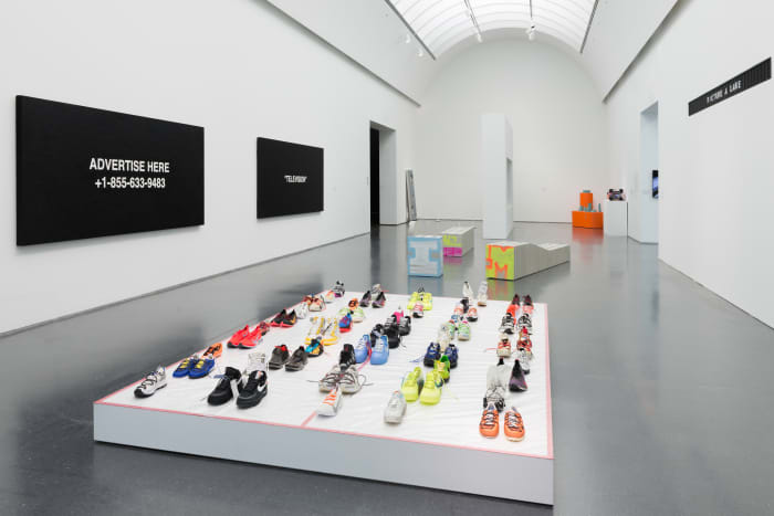 "Inside ""Virgil Abloh: 'Figures of Speech.'"" Photo: Nathan Keay/Courtesy of the Museum of Contemporary Art"