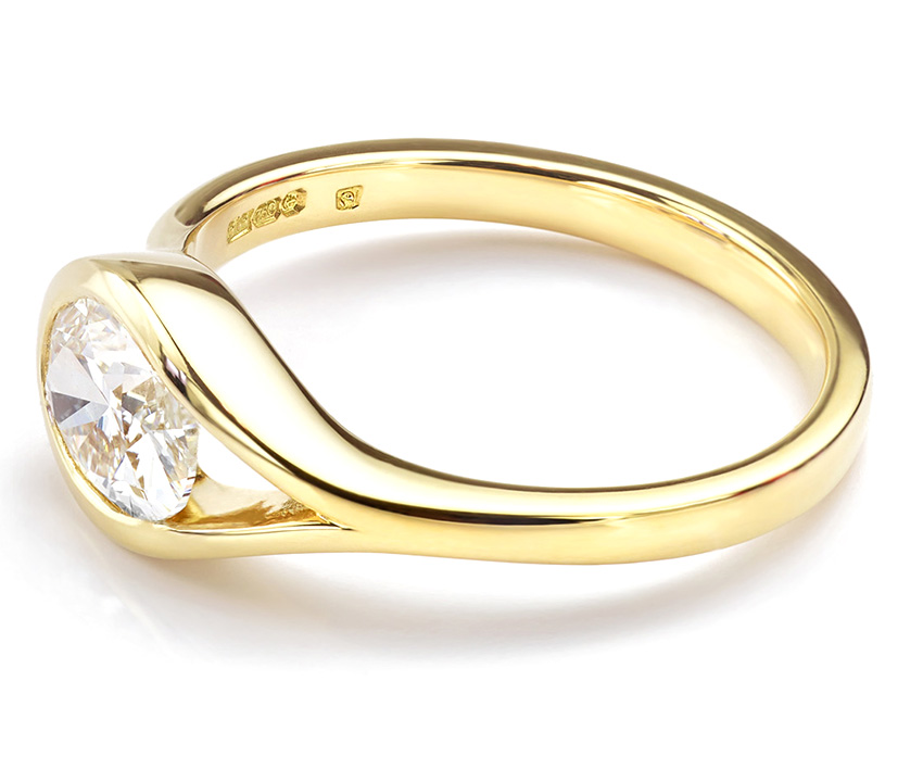 Fairtrade Yellow Gold Bespoke Diamond Ring
