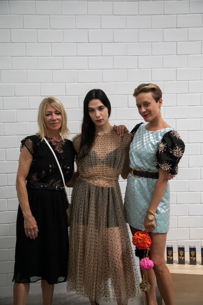 Chloë Sevigny at Dover Street Market L.A. with Kim Gordon and Alia Raza. Photo: Courtesy of Dover Street Market