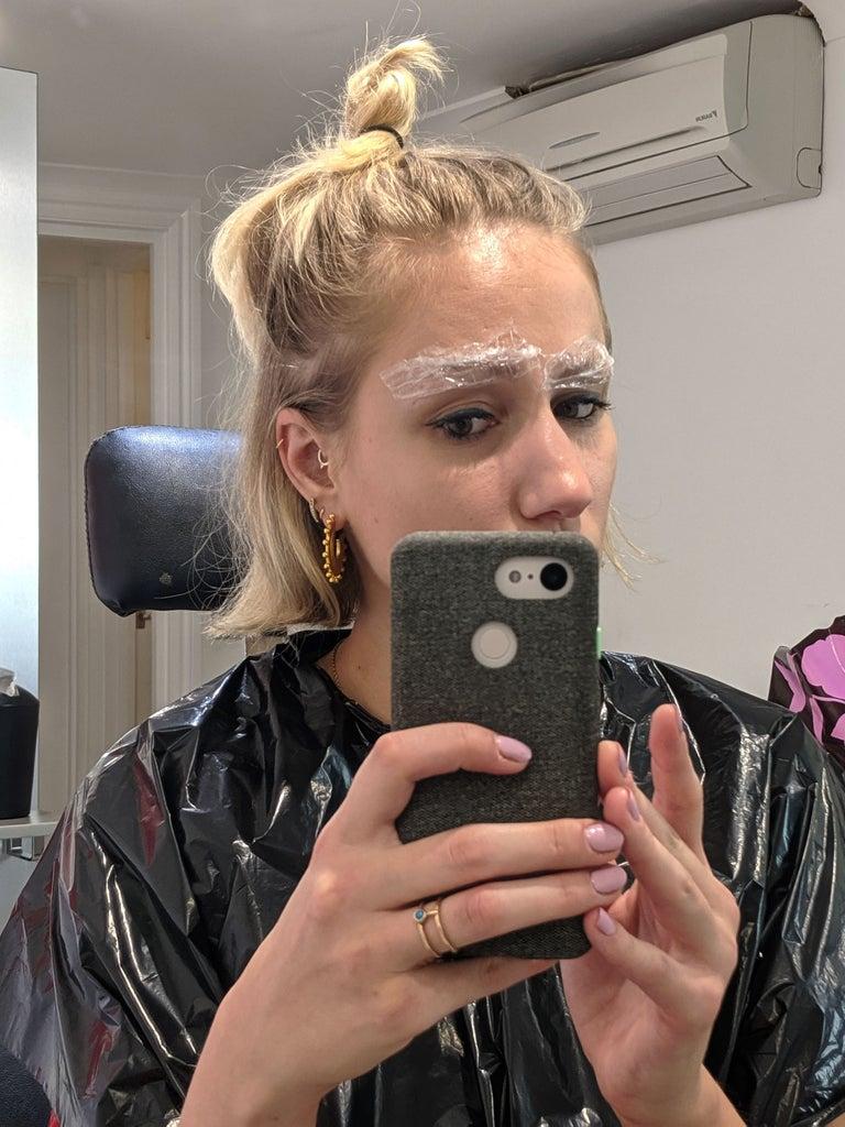 Eyebrow lamination tested