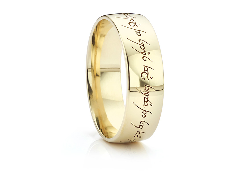 One ring to rule them all! Elvish wedding ring inspired by Lord of the Rings