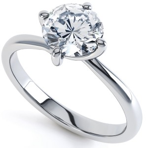 The Classic Four Claw Twist Engagement Ring