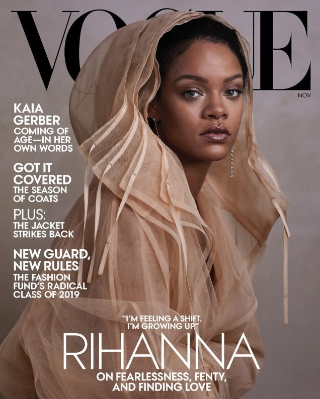 US Vogue November 2019 : Rihanna by Ethan James Green