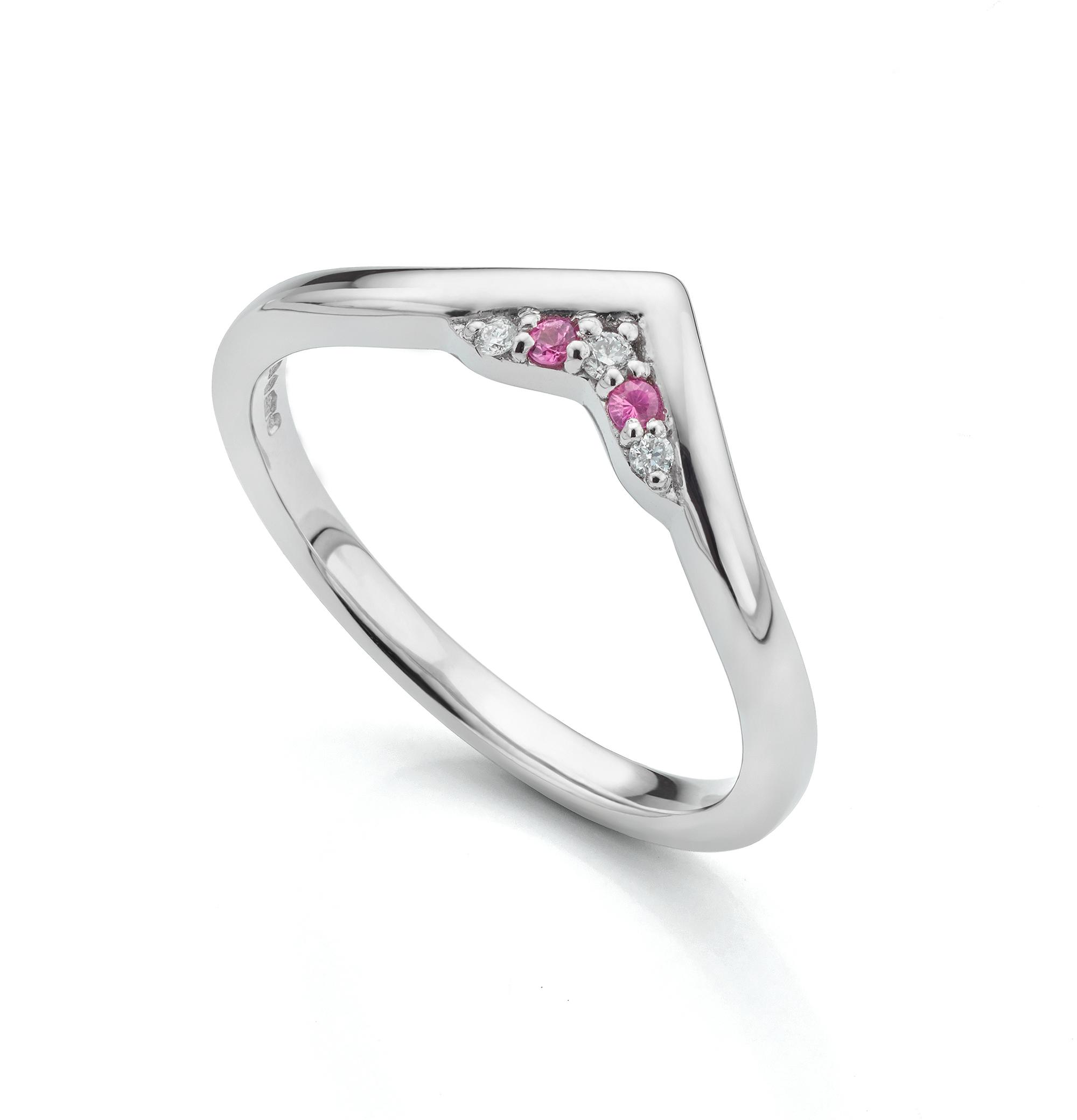 Pink Sapphire Bespoke Wedding Ring