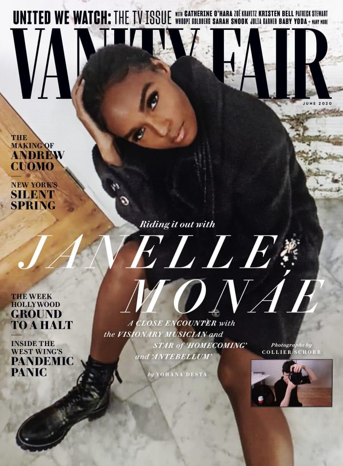 "Janelle Monáe on the June cover of ""Vanity Fair."""