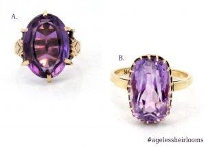 Vintage Amethyst Rings