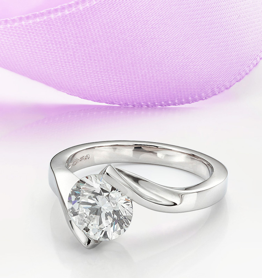 Tension set engagement ring Unity