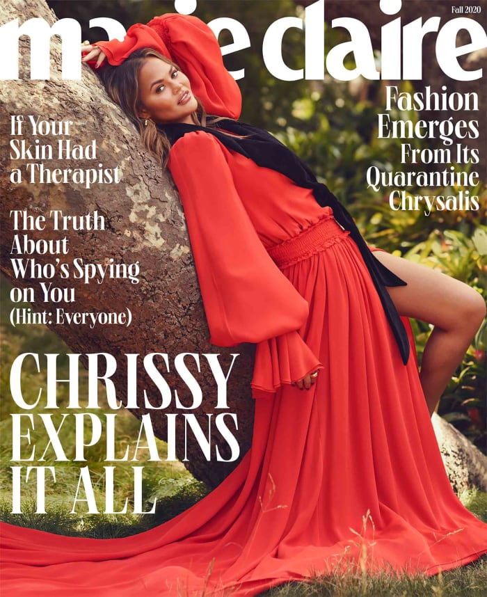 """Chrissy Teigen on the Fall 2020 cover of """"Marie Claire."""""""