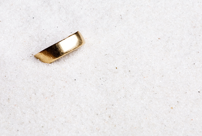 Lost Wedding Ring in Sand