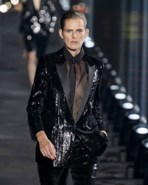 Stella Tennant walks the McQueen runway