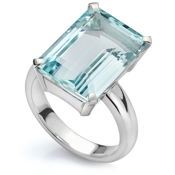 Aquamarine bespoke ring design