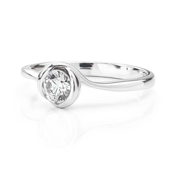 Rosebud Diamond Engagement ring
