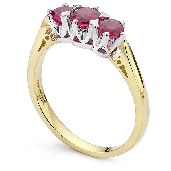 Bespoke Ruby Engagement ring