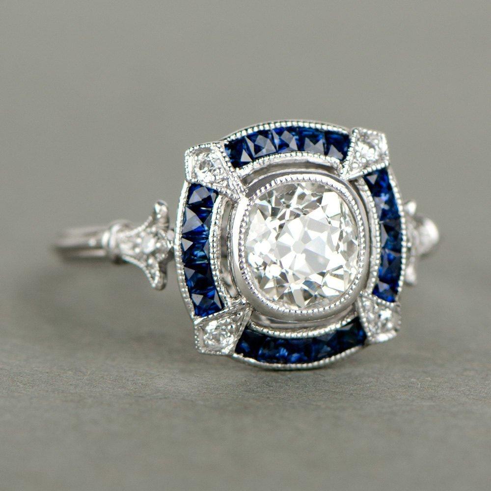 vintage art deco engagement rings