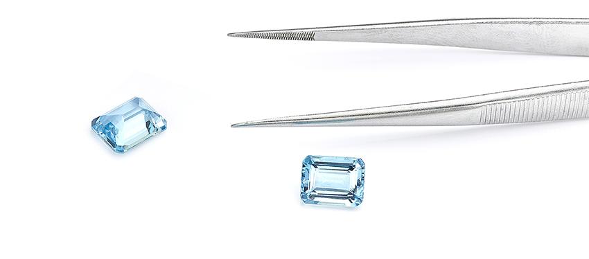 Loose Emerald cut Aquamarine stones