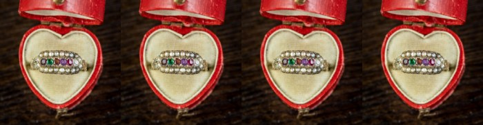 Win this Victorian era acrostic ring from Laurelle Antique Jewellery.