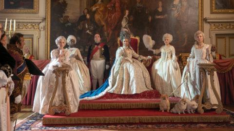 Golda Rosheuvel as Queen Charlotte in episode 101 of Bridgerton