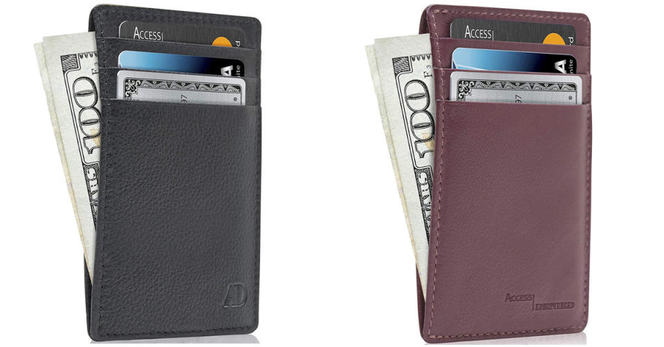 Looking for a compact way to keep your credit cards safe? They've got you covered (Photo: Amazon)
