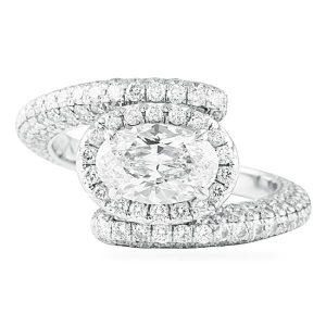 1.50 ct Oval Diamond Platinum Engagement Ring