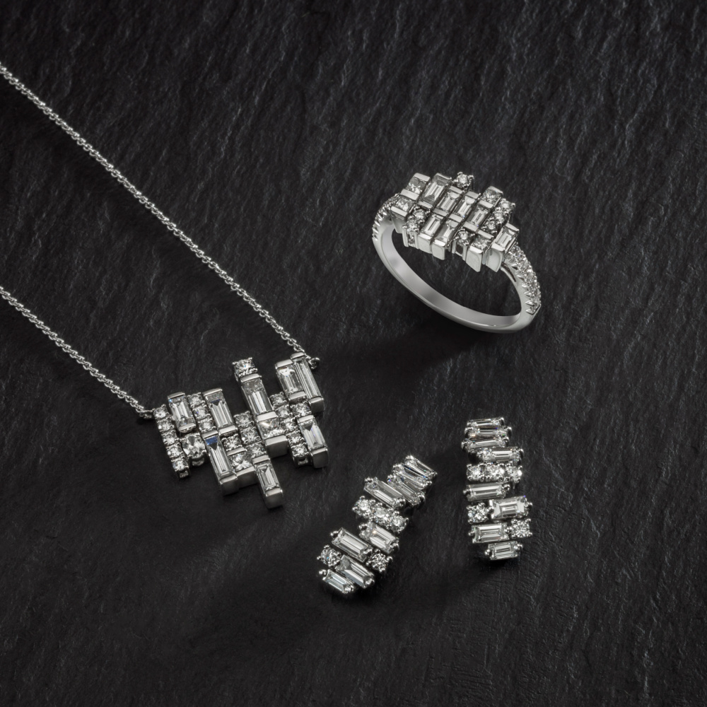 Diamond jewels of the Cairn collection by Oliver Smith
