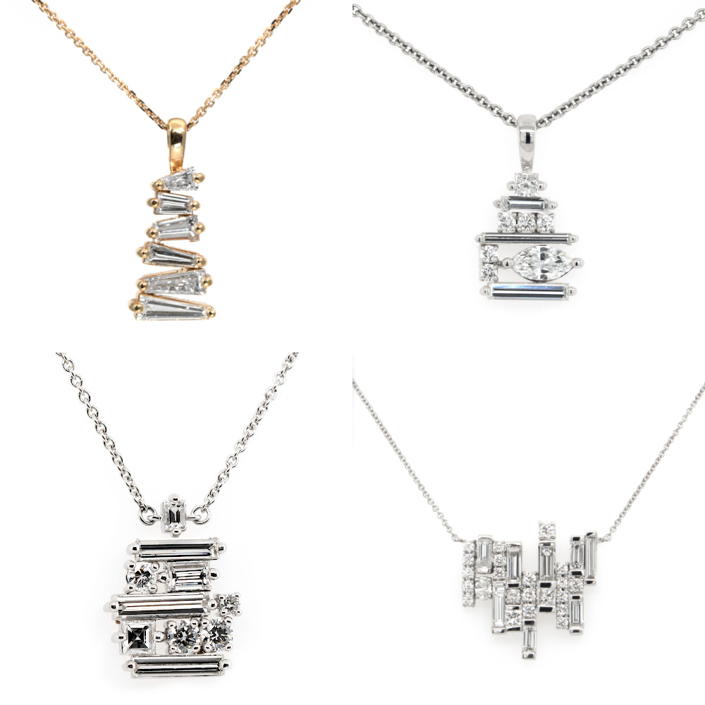 Diamond necklaces from the Cairn collection by Oliver Smith