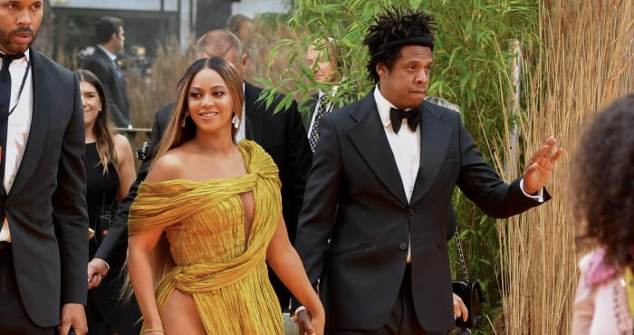 """Beyonce Knowles-Carter and Jay-Z attend the European Premiere of Disney's """"The Lion King"""""""