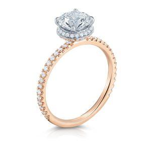 1.20 ct Diamond Two-Tone Hidden Halo™ Engagement Ring